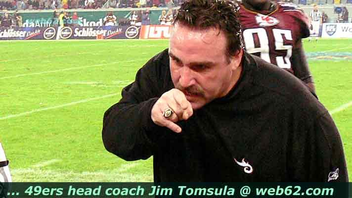 Foto Jim Tomsula head coach 49ers