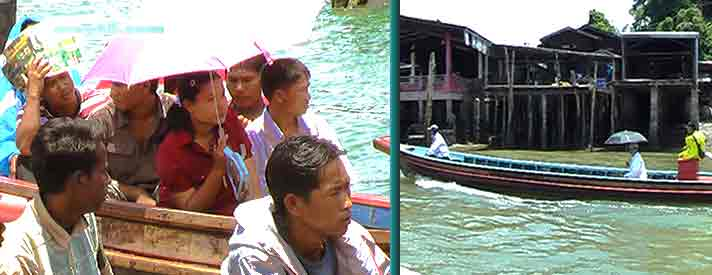 Myanmar visa run ferry ride